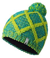 W ALPS Pom Beanie Blue Bird/W. Lime